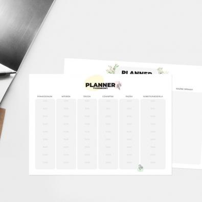 Planery do druku za darmo - planery do pobrania