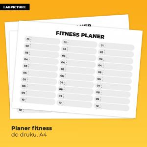 Planer Fitness do druku