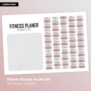 Wydrukuj Planer fitness - planer fitness do druku