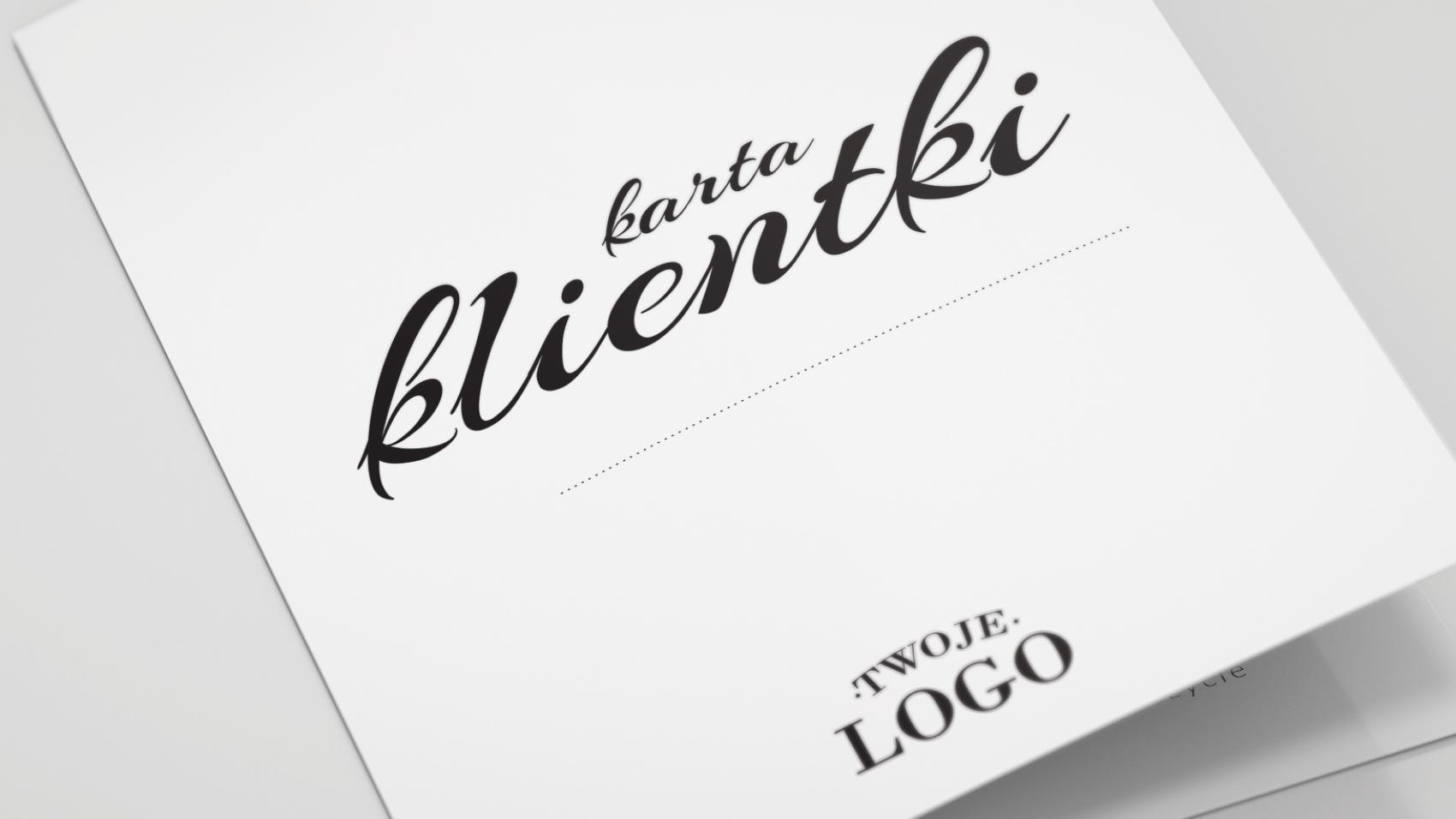 Karta Klientki z logo