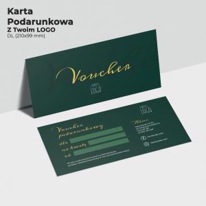 Karta podarunkowa dla firmy z logo