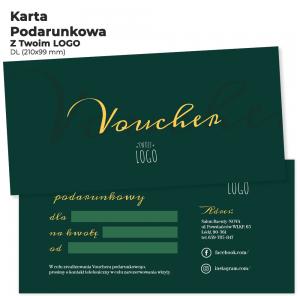 Voucher podarunkowy z logo