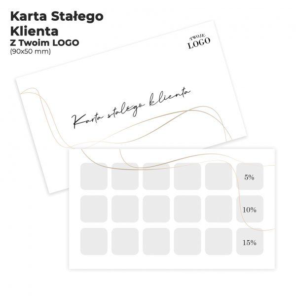 Karta stałego klienta z logo
