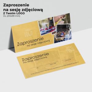 Zaproszenie na sesję z twoim logo
