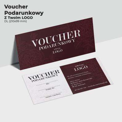 Voucher z motywem róż dla firm, z logo