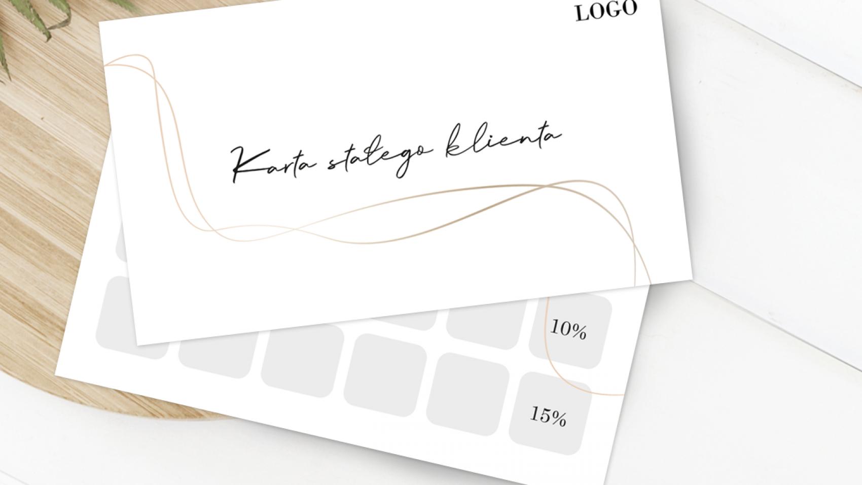 Karta stałego klienta dla firm z logo