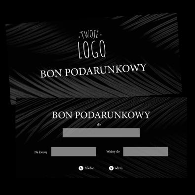 Czarny Bon Podarunkowy z Logo
