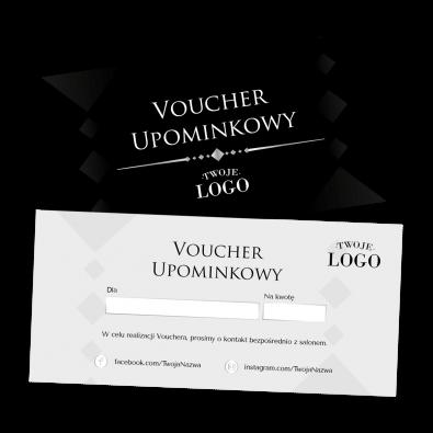 Elegancki voucher podarunkowy z logo