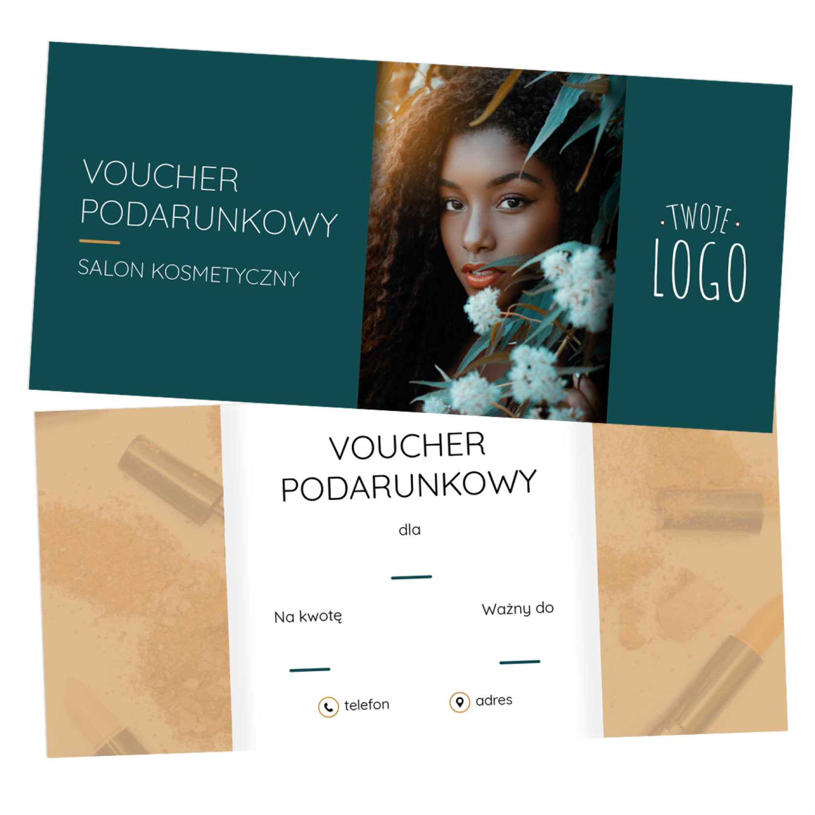 Voucher_Podarunkowy_dla_salonu_spa_beauty_karta_podarunkowa_bon_dla_klientek_klientow_projekt_wydruk_z_logo_BVK-17-ZR-DL_wiz01